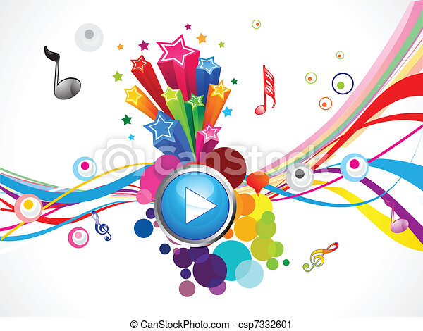 abstract colorful play music  - csp7332601