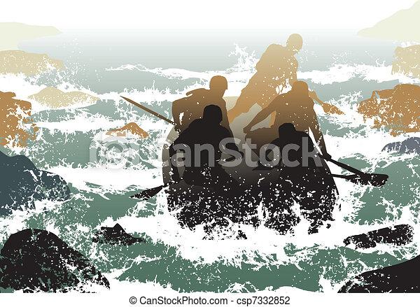 Whitewater rafting - csp7332852