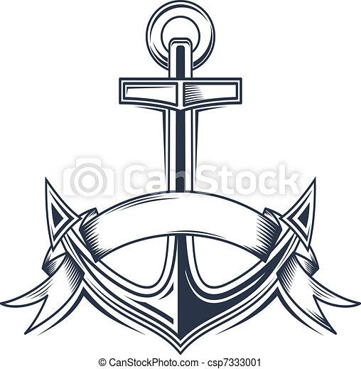 clip arte vetorial de  u00e2ncora  fitas vindima   u00e2ncora anchor clipart black and white anchor clip art transparent background