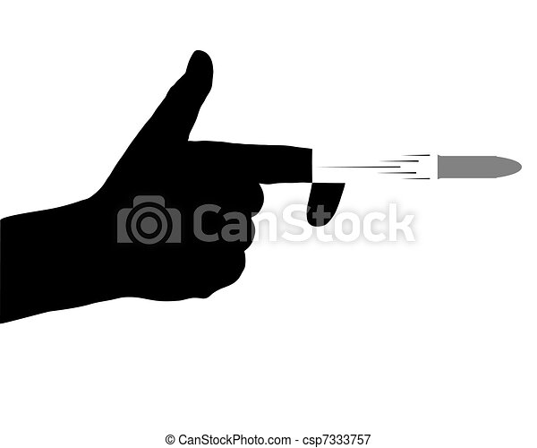 Shooting with handgun - csp7333757