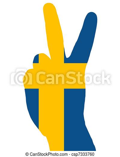 Swedish finger signal - csp7333760