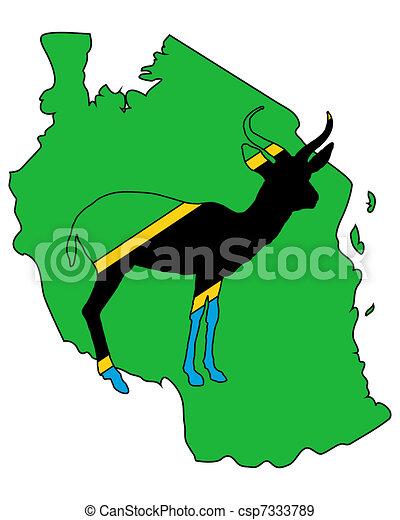 Tanzania antelope - csp7333789