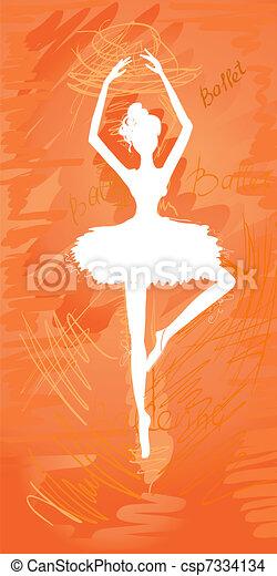 silhouette painted ballerinas - csp7334134