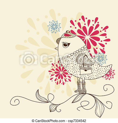Fashion bird - csp7334542
