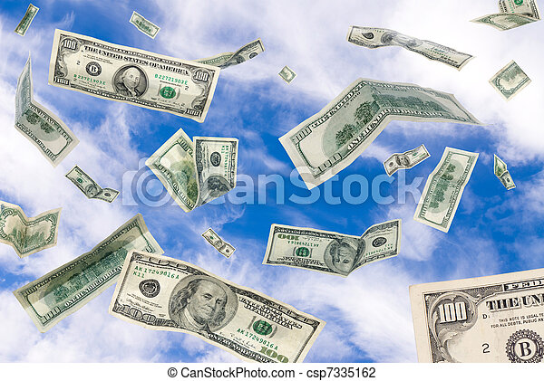 Cash falling from the sky - csp7335162