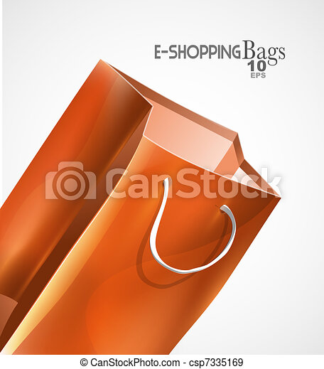 Vector bag background - csp7335169