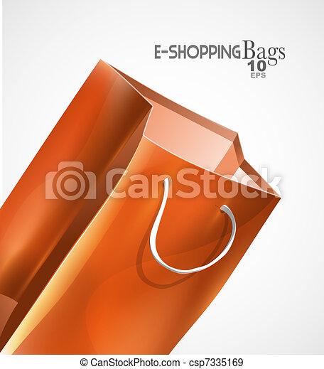 Vector bag background - csp7335169