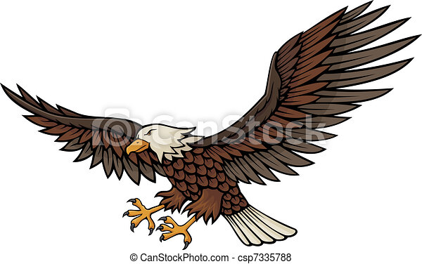Eagle attacking - csp7335788