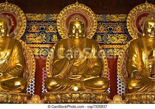 buddha statue in Wat-Leng-Noei-Yi2  - csp7335837
