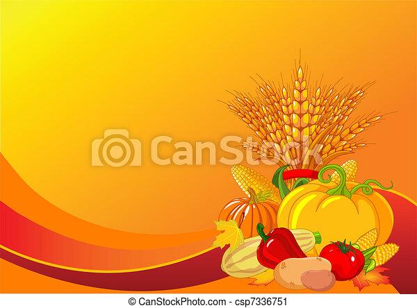 Thanksgiving / harvest background - csp7336751