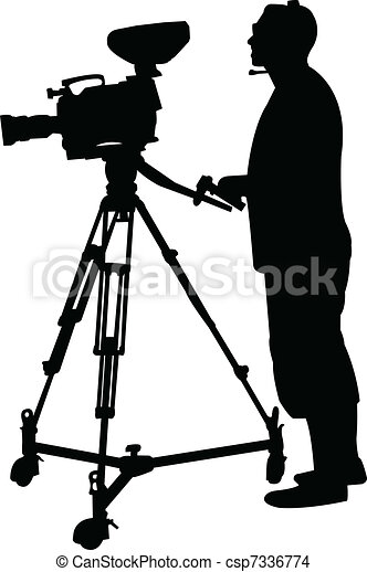 cameraman silhouette - csp7336774