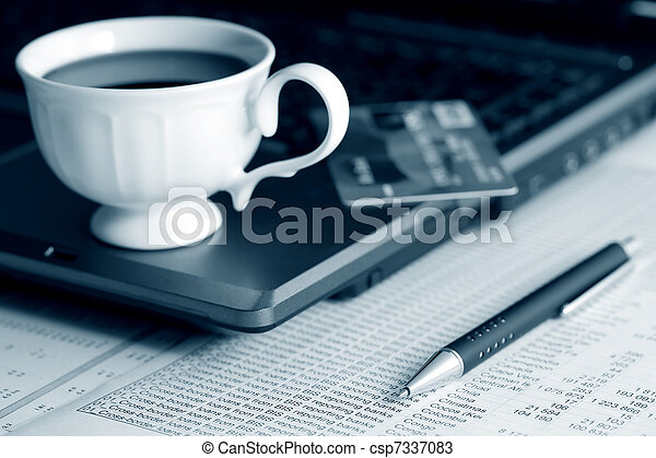 Coffee and accounting - csp7337083