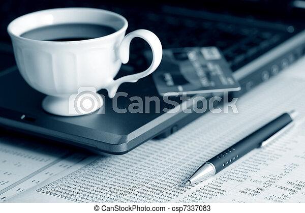 contabilidade, café - csp7337083