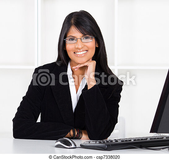 beautiful indian businesswoman - csp7338020