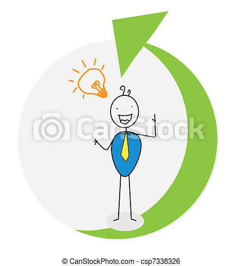 businessman up career vector - csp7338326