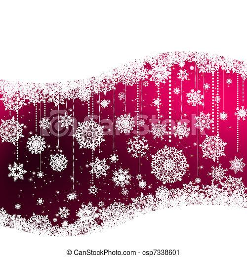 Elegant christmas background. EPS 8 - csp7338601