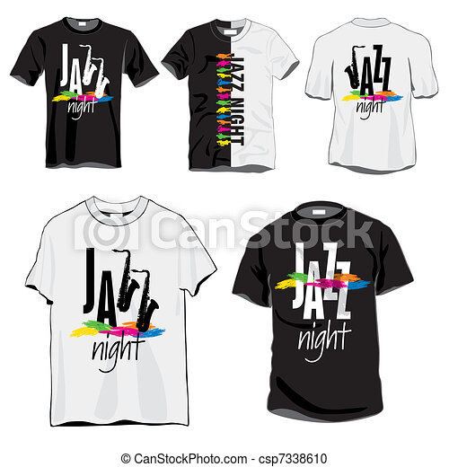 Jazz Night T-shirts Set - csp7338610