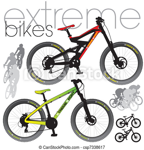 Mountain Bikes Set - csp7338617