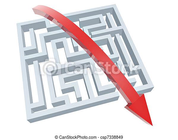 solution of maze - csp7338849