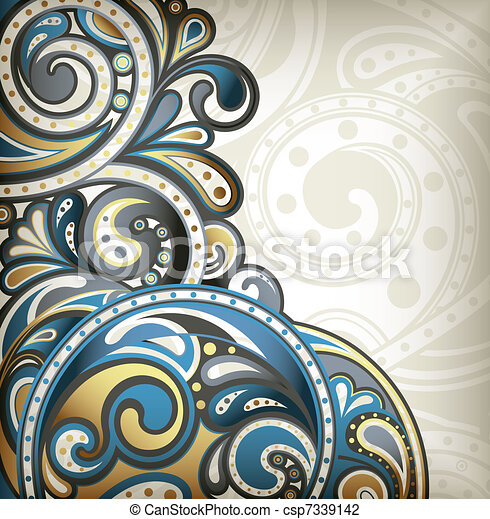 Abstract Scroll Background - csp7339142