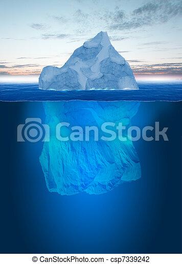 Melting Iceberg - csp7339242