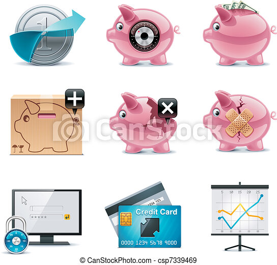 Vector banking icons. Part 1 - csp7339469