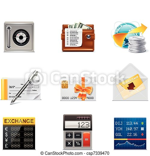 Vector banking icons. Part 2 - csp7339470
