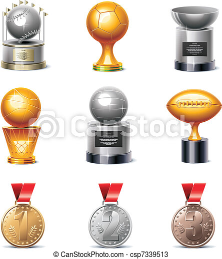 Vector sport trophies and medals - csp7339513