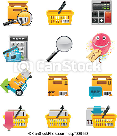 Vector e-commerce icon set - csp7339553