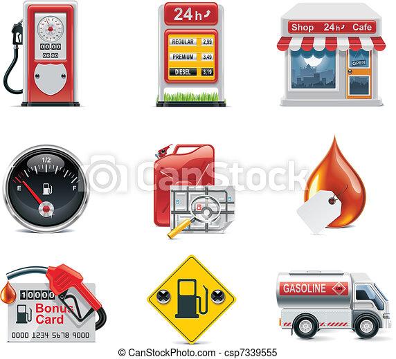 Vector gas station icon set - csp7339555