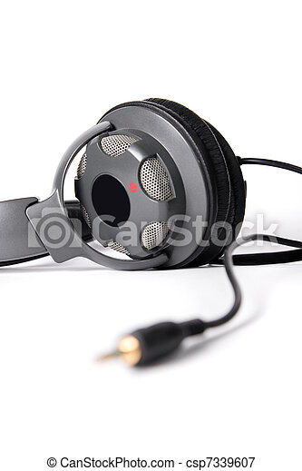 Isolated powerful stereo headphones - csp7339607
