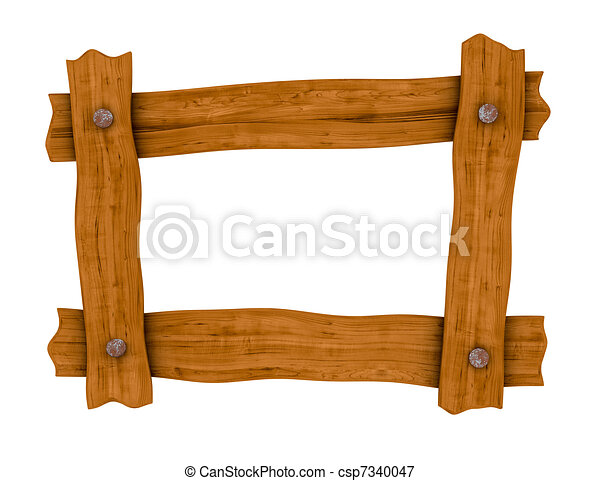 wooden board frame - csp7340047