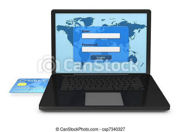 online banking services - csp7340327