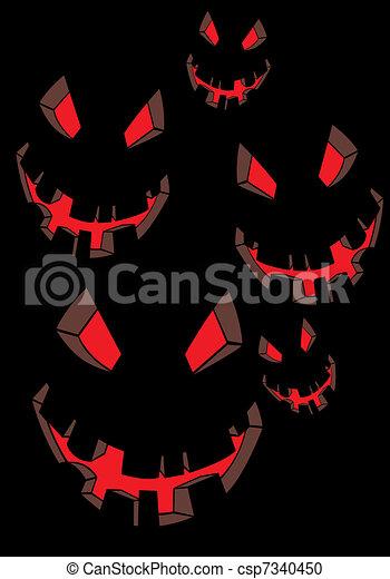 Scary face - csp7340450
