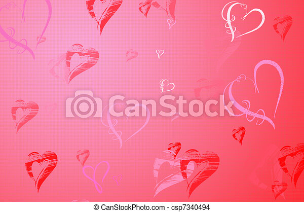 Valentines Day background - csp7340494