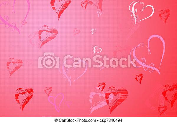 Valentines Day background - csp7340494