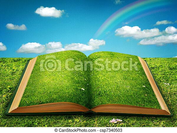 Open magic book - csp7340503