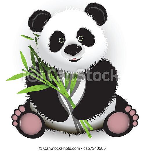Vecteur Clipart De Panda Illustration Curieux Panda