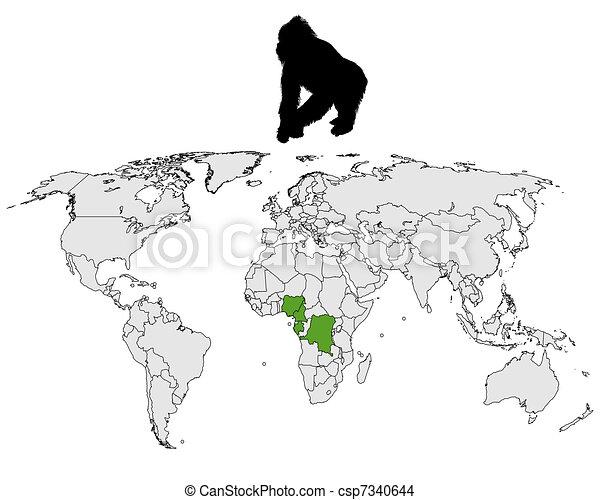 World Gorilla range - csp7340644