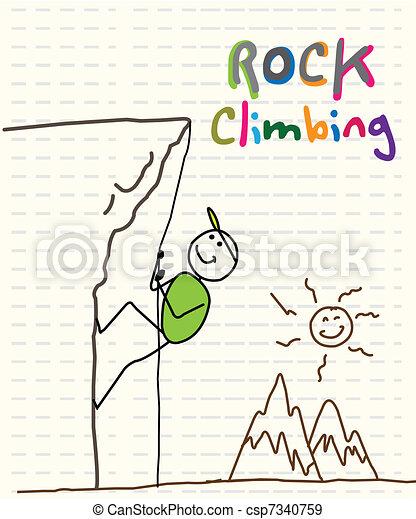 rock climbing  - csp7340759