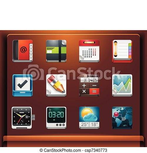 Applications icons - csp7340773