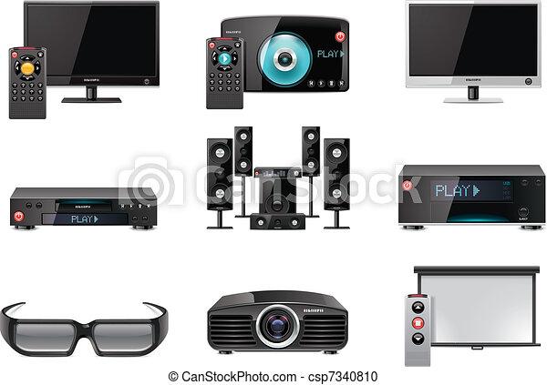 Vector video equipment icon set - csp7340810