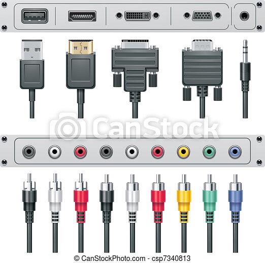 Vector video and audio connectors - csp7340813