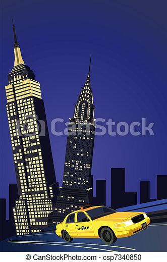 New York City Taxi  - csp7340850