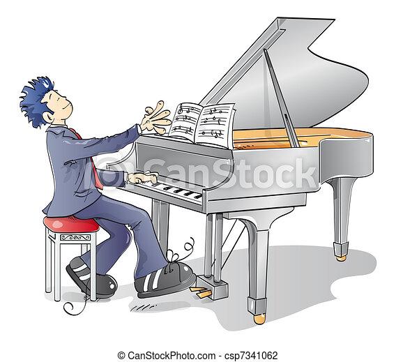 鋼琴, 人 - csp7341062
