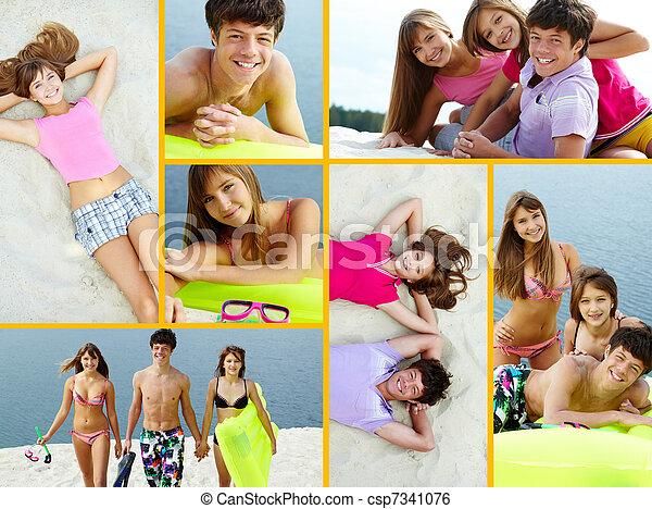 Leisure on the beach - csp7341076