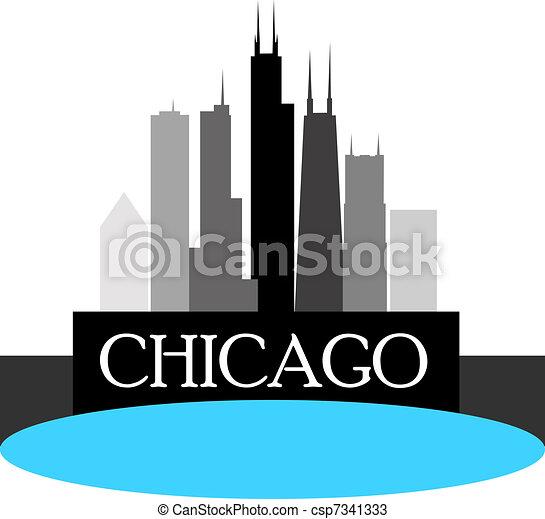 Chicago Skyline - csp7341333