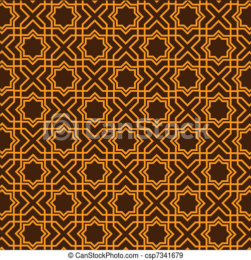 Islamic geometric pattern  - csp7341679