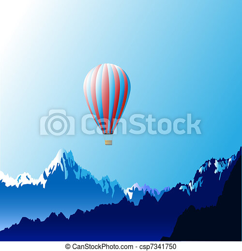 Hot air ballon - csp7341750