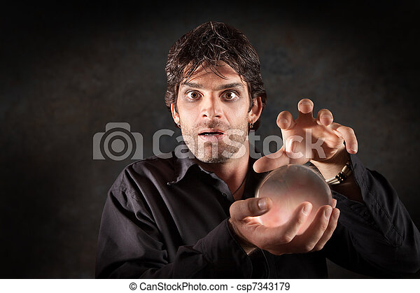 Fortuneteller With Crystal Ball - csp7343179